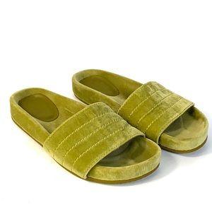 Zara SRPLS Velour Green Slides